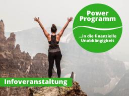 Webinar: Vorstellung Power Programm in die finanzielle Unabhängigkeit