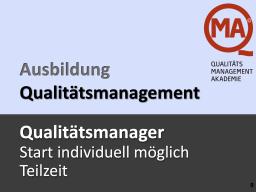 Qualitätsmanager per WEBINAR (TZ)