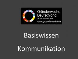 Webinar: Basiswissen Kommunikation