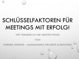 Webinar: Schlüsselfaktoren für Meetings mit Erfolg!