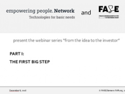 Webinar: How to transform from a donation-based project into a sustainable social enterprise