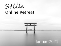 Webinar: Online Retreat | Januar