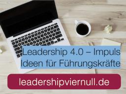 Webinar: Leadership 4.0-Impuls: Leadership 4.0 und Scrum  agile Führungstechniken