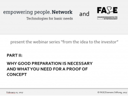 Webinar: Why good preparation is necessary and what you need for a proof of concept