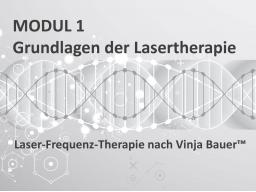 Webinar: Modul 1 - Ausbildung zum Laser- und Laser-Frequenz-Therapeut nach Vinja Bauer™