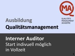 Interner Auditor per WEBINAR (VZ)