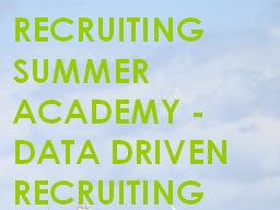 Webinar: Praxisbericht: Data Driven Recruiting in der Recruitingpraxis bei Goodgame Studios.