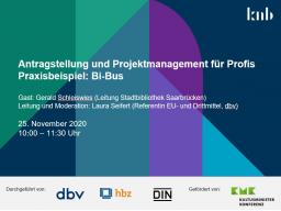 Webinar: Antragstellung und Projektmanagement für Profis