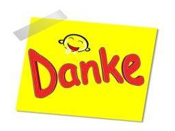 """DANKE""  das Zauberwort für Glück, Erfolg & Harmonie ..."