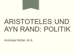 Webinar: Aristoteles und Ayn Rand: Politik
