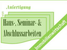 Webinar: Fach-, Haus-, Seminar- und Abschlussarbeiten in der Immobilienwirtschaft