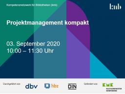 Webinar: Projektmanagement kompakt