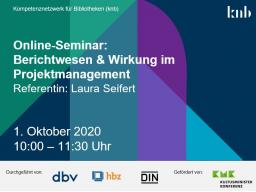 Webinar: Berichtwesen & Wirkung im Projektmanagement