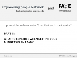 Webinar: What to consider when getting your business plan ready